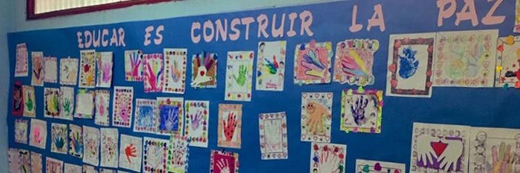 pizarra paz colegio Alcorcón Amanecer