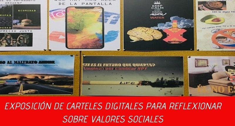 carteles digitales solidaridad colegio amanecer