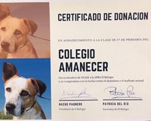 donación colegio Amanecer