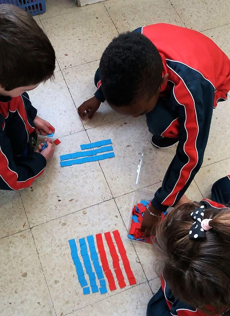 Trabajando Jump Math en el colegio Amanecer