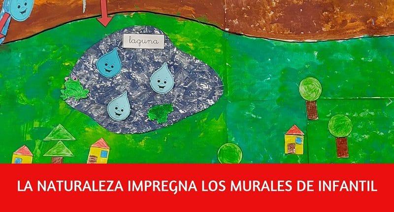 murales decorativos en escuela infantil