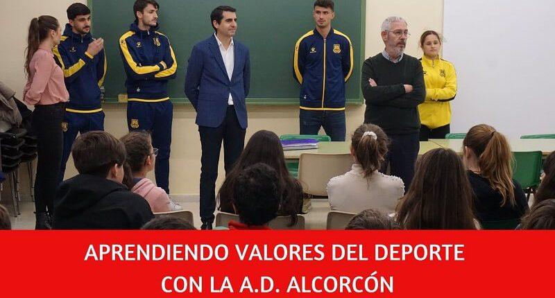 valores del deporte en el colegio Amanecer gracias a la A.D. Alcorcón