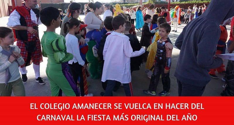 gran fiesta de carnaval en el colegio Amanecer