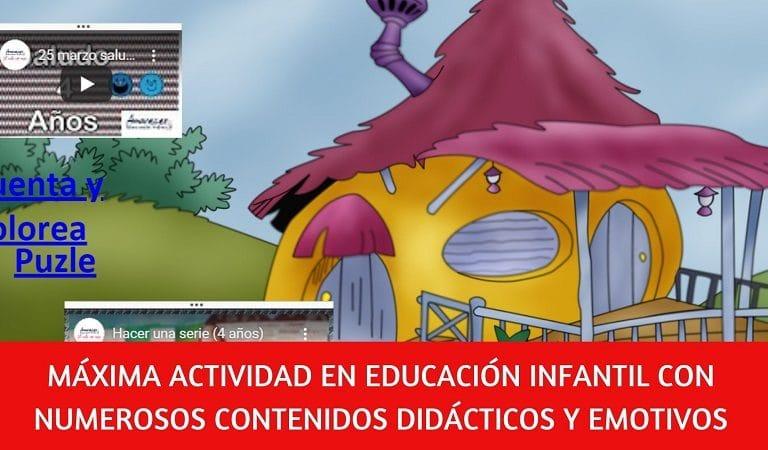 Intensa actividad en Educación Infantil del colegio Amanecer ante el coronavirus