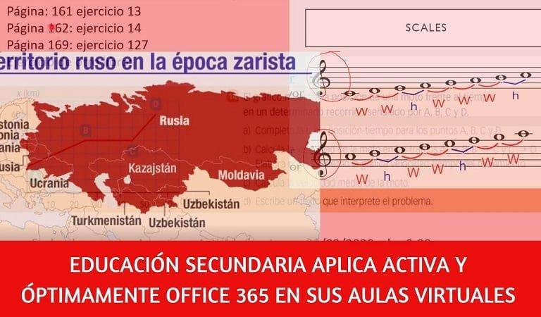 Educación Secundaria aplica office 365 durante coronavirus