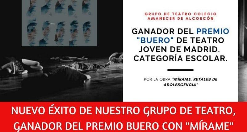 Grupo Teatro colegio Amanecer Alcorcon gana premio Buero teatro