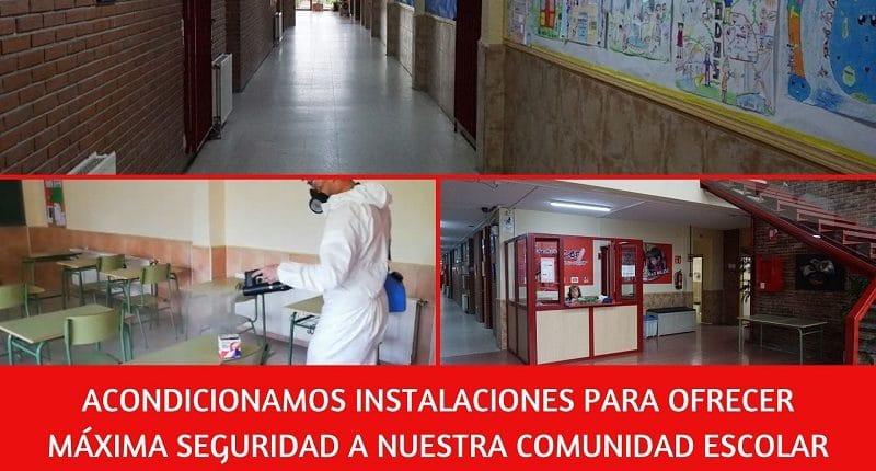 acondicionamiento instalaciones colegio amanecer alcorcon