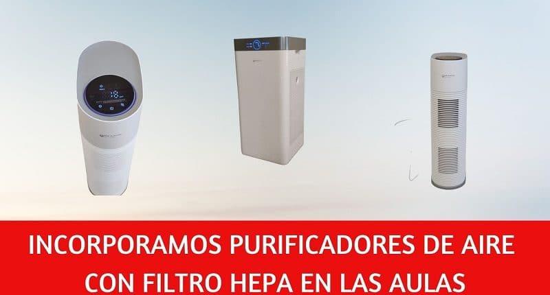 purificadores de aire con filtro HEPA anti covid19