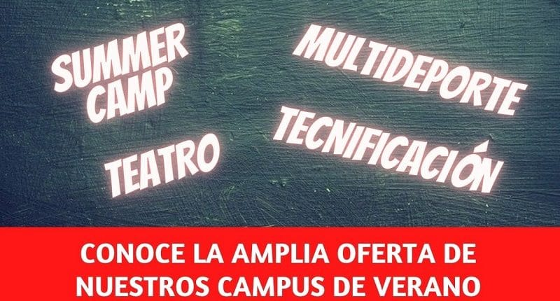 Variada oferta en los campus de verano del colegio Amanecer