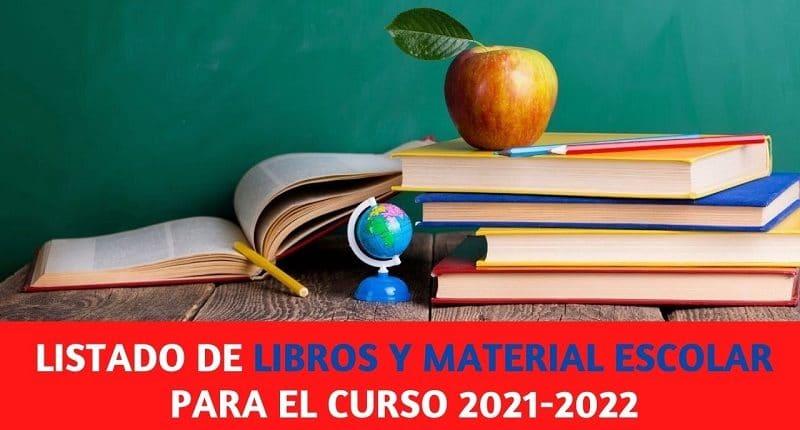listado de libros curso escolar 2021-2022